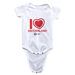 Switzerland Euro 2016 Heart Onesie (White)