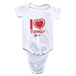 Turkey Euro 2016 Heart Onesie (White)