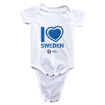 Sweden Euro 2016 Heart Onesie (White)
