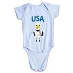 USA Animal Mascot Onesie (Sky)