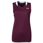Under Armour Women's Tempo Racerback Jersey (Maroon/Wht)
