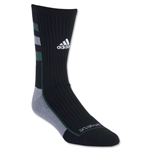 adidas NCAA Team Speed Crew Sock (Blk/Green)