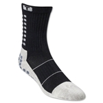 TRUSOX Crew Length Sock-Thin (Black)