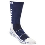 TRUSOX Crew Length Sock Thin (Navy)