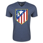 Atletico Madrid Core V-Neck T-Shirt (Heather Navy)