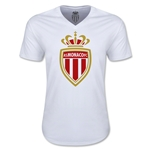 AS Monaco Soccer V-Neck T-Shirt (White)
