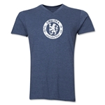 Chelsea Distressed Emblem V-Neck T-Shirt (Heather Navy)