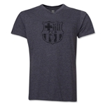 Barcelona Distressed V-Neck T-Shirt (Dark Gray)
