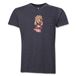 1966 FIFA World Cup Willie Mascot V-Neck T-Shirt (Dark Grey)