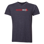 Grassroot Soccer V-Neck T-Shirt (Dark Gray)