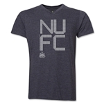 Newcastle United Pixel Graphic V-Neck T-Shirt (Dark Gray)