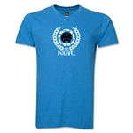 Newcastle United Distressed V-Neck T-Shirt (Heather Turquoise)