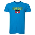 Antigua & Barbuda Football V-Neck T-Shirt (Heather Turquoise)