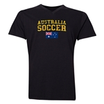 Australia Soccer V-Neck T-Shirt (Black)