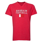 Bahrain Football V-Neck T-Shirt (Heather Red)