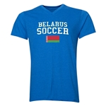 Belarus Soccer V-Neck T-Shirt (Heather Royal)
