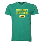 Brunei Soccer V-Neck T-Shirt (Heather Green)