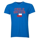 Chile Soccer V-Neck T-Shirt (Heather Royal)