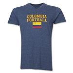 Colombia Football V-Neck T-Shirt (Heather Navy)