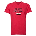 Egypt Football V-Neck T-Shirt (Heather Red)