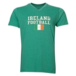 Ireland Football V-Neck T-Shirt (Heather Green)