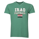 Iraq Football V-Neck T-Shirt (Heather Green)