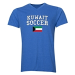 Kuwait Soccer V-Neck T-Shirt (Heather Royal)