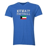 Kuwait Football V-Neck T-Shirt (Heather Royal)