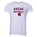 Qatar Football V-Neck T-Shirt (White)