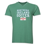Northern Ireland Soccer V-Neck T-Shirt (Heather Green)