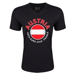 Austria Euro 2016 Fashion V-Neck T-Shirt (Black)