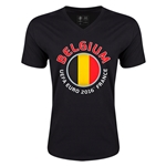 Belgium Euro 2016 Fashion V-Neck T-Shirt (Black)