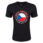 Czech Republic Euro 2016 Fashion V-Neck T-Shirt (Black)
