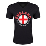 England Euro 2016 Fashion V-Neck T-Shirt (Black)