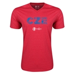 Czech Republic Euro 2016 Elements V-Neck T-Shirt (Heather Red)