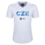 Czech Republic Euro 2016 Elements V-Neck T-Shirt (White)