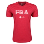 France Euro 2016 Elements V-Neck T-Shirt (Heather Red)