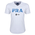 France Euro 2016 Elements V-Neck T-Shirt (White)