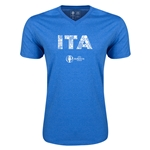Italy Euro 2016 Elements V-Neck T-Shirt (Heather Royal)