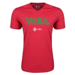 Wales Euro 2016 Elements V-Neck T-Shirt (Heather Red)