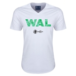 Wales Euro 2016 Elements V-Neck T-Shirt (White)