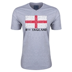England Euro 2016 Fashion V-Neck T-Shirt (Grey)