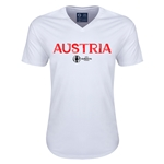 Austria Euro 2016 Core V-Neck T-Shirt (White)