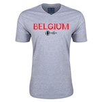Belgium Euro 2016 Core V-Neck T-Shirt (Grey)
