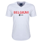 Belgium Euro 2016 Core V-Neck T-Shirt (White)