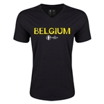 Belgium Euro 2016 Core V-Neck T-Shirt (Black)