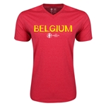 Belgium Euro 2016 Core V-Neck T-Shirt (Heather Red)