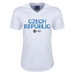 Czech Republic Euro 2016 Core V-Neck T-Shirt (White)