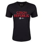 Czech Republic Euro 2016 Core V-Neck T-Shirt (Black)