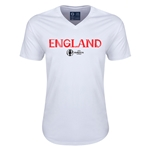 England Euro 2016 Core V-Neck T-Shirt (White)